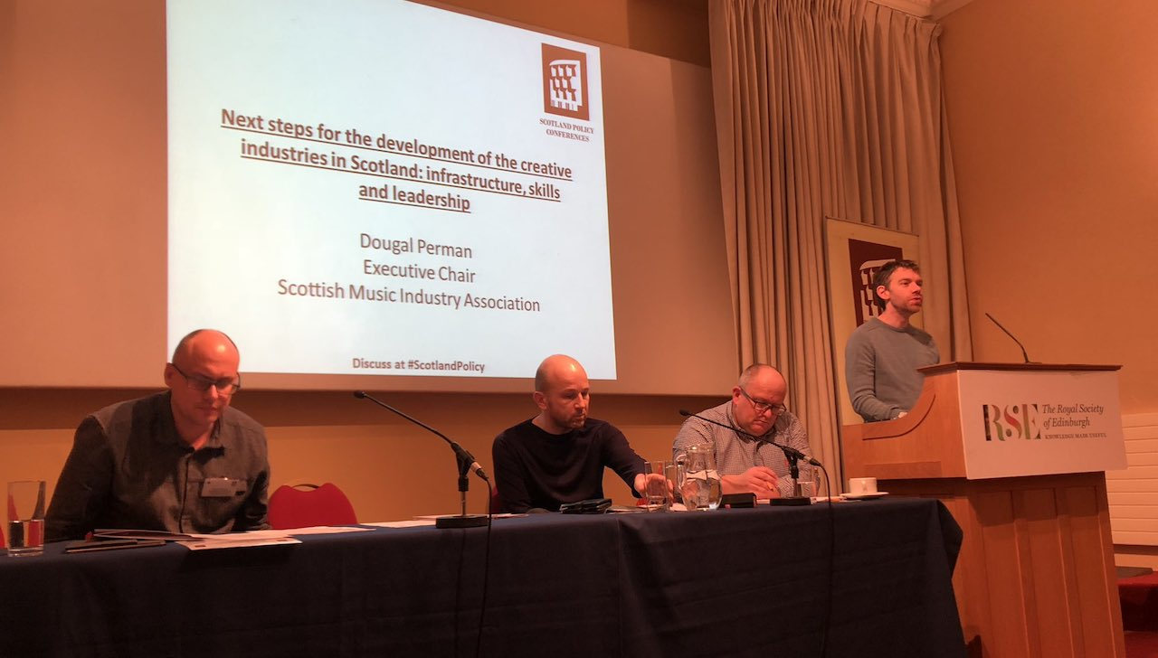 Dougal speaking at Scotland Policy Conference