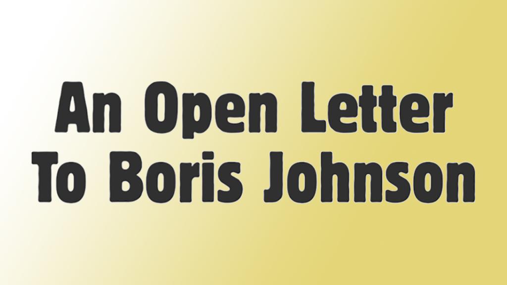 MVT Open Letter to Boris Johnson